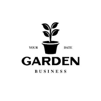Logotipo do vaso de plantas