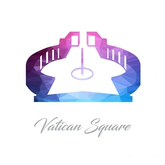 Logotipo do vaticano polygon praça