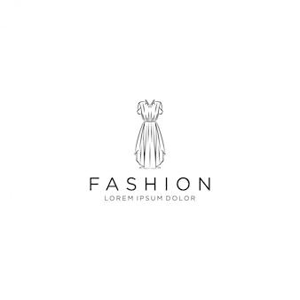 Logotipo do vestido, vestido de vestido de luxo