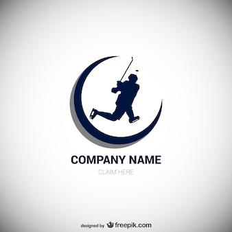 Logotipo do vetor jogador de hóquei