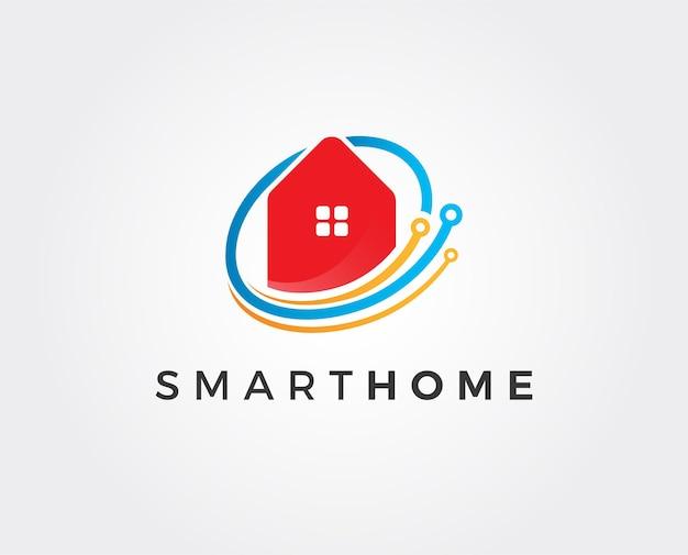 Logotipo do vetor linear em casa