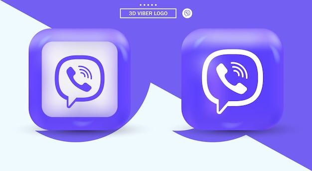 Logotipo do viber em quadrado moderno para ícones de mídia social