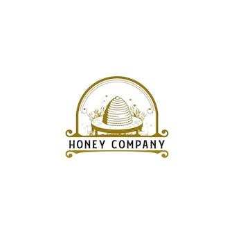 Logotipo do vintage da colméia