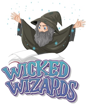 Logotipo do wicked wizards em branco