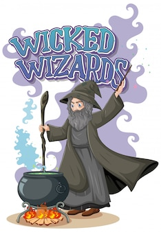 Logotipo do wicked wizards em fundo branco
