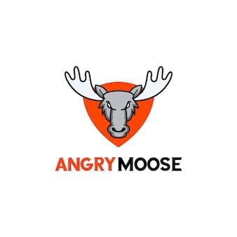 Logotipo dos alces pronto para uso