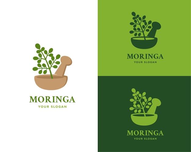 Logotipo dos benefícios de saúde da moringa