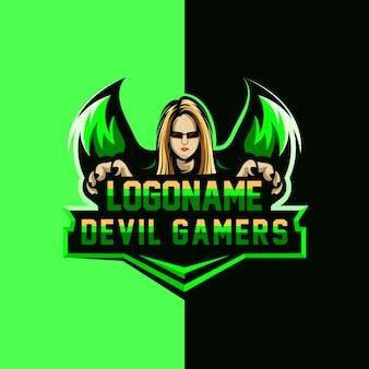 Logotipo dos gamers do diabo