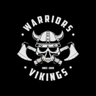 Logotipo dos guerreiros vikings