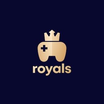 Logotipo dos jogos com gamepad e coroa