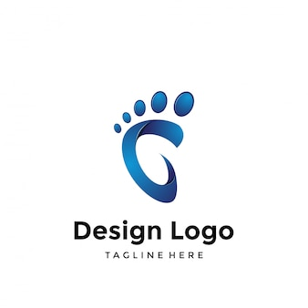 Logotipo dos pés