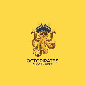 Logotipo dos piratas do polvo