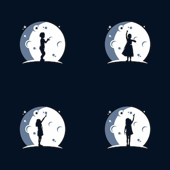 Logotipo dos sonhos infantis