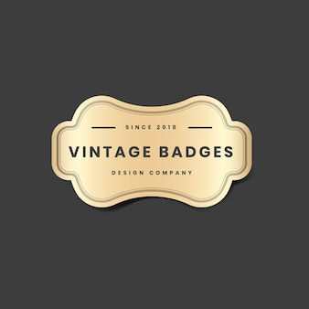 Logotipo dourado vintage