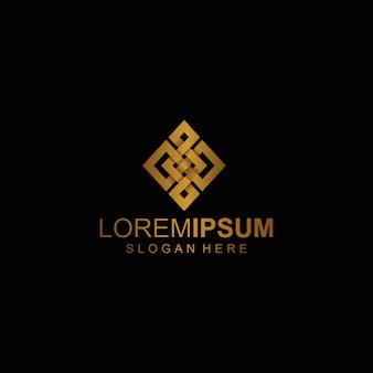 Logotipo dourado