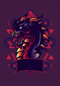 Logotipo dragon esport