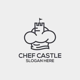 Logotipo duplo do significado do castelo de chef