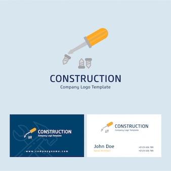 Logotipo e cartão de construção