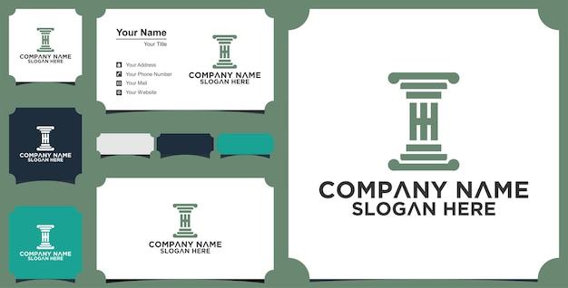 Logotipo e cartão de visita da hh law