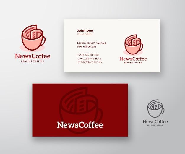 Logotipo e cartão de visita da news coffee abstract
