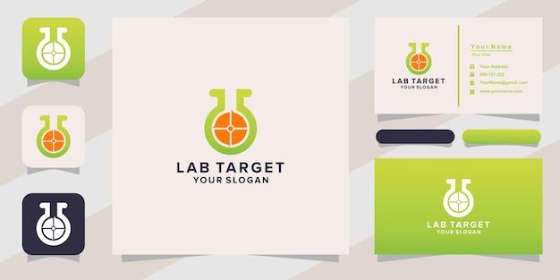 Logotipo e cartão de visita do laboratório alvo