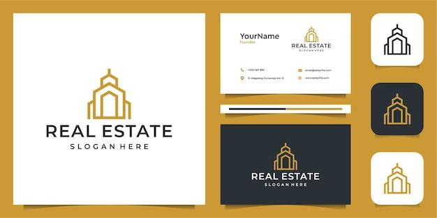 Logotipo e cartão de visita imobiliários