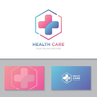 Logotipo e ícone de cuidados de saúde médicos