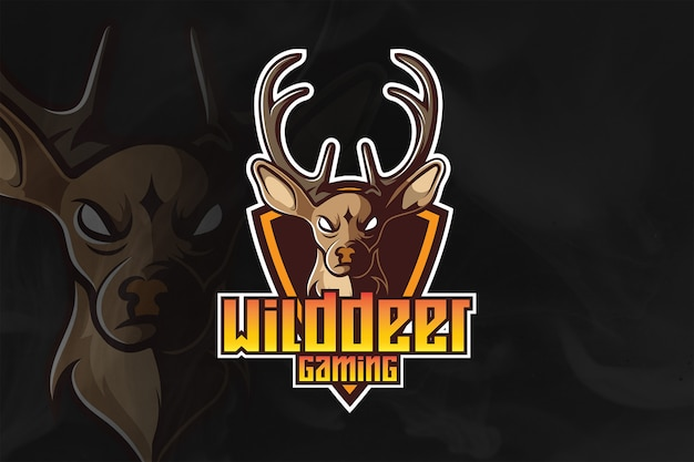 Logotipo e mascote da wilddeer esport