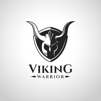 Logotipo e símbolo do guerreiro de viking