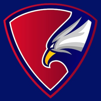Logotipo eagle red club crest