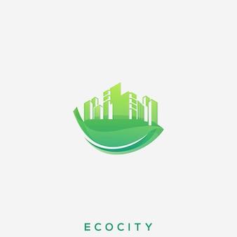 Logotipo eco city premium