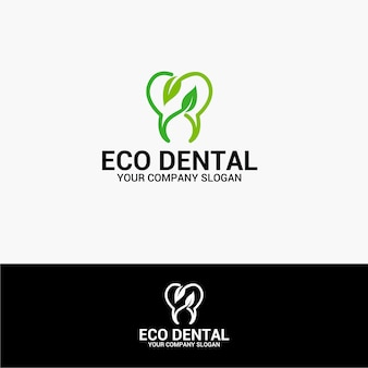 Logotipo eco dental