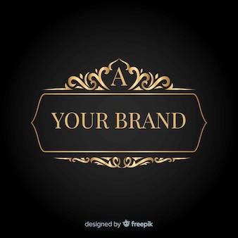 Logotipo elegante com ornamentos vintage