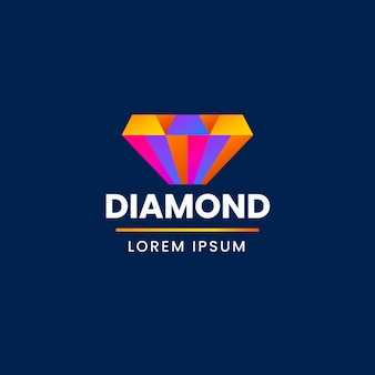 Logotipo elegante diamante