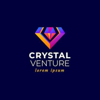 Logotipo elegante diamante