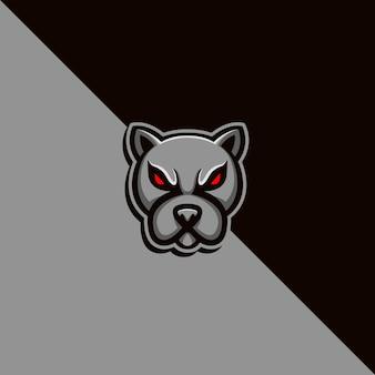 Logotipo elegante do mascote do cachorro