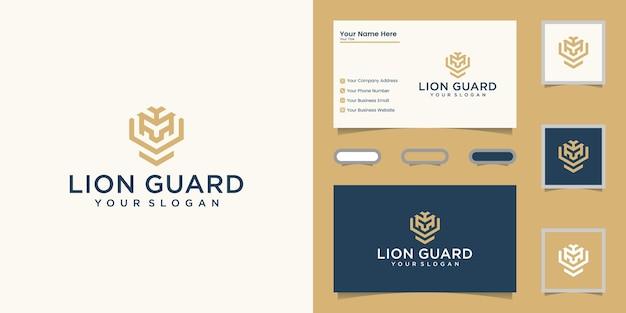 Logotipo elegante e design de cartão de visita