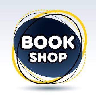 Logotipo elegante livraria moderna