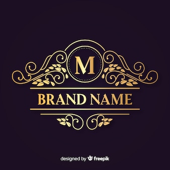 Logotipo elegante ornamental