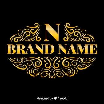 Logotipo elegante ornamental