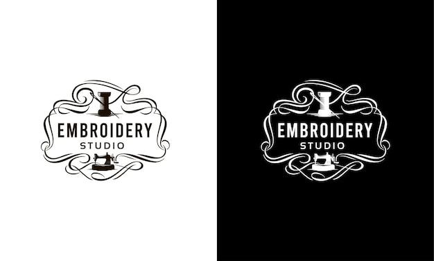 Logotipo elegante para um estúdio de costura.