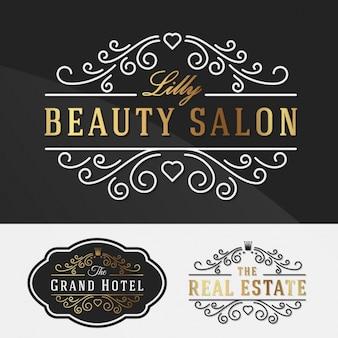 Logotipo elegante templates coleção