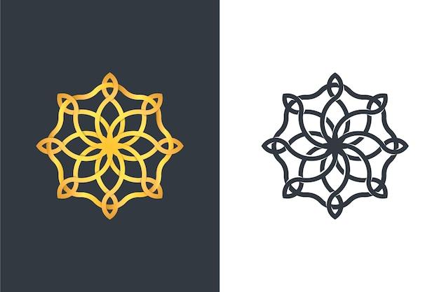 Logotipo em desenho abstrato de duas versões