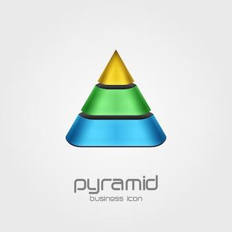 Logotipo em forma de modelo de design de pirâmide