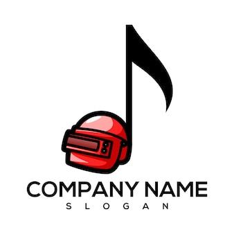 Logotipo em tom de capacete