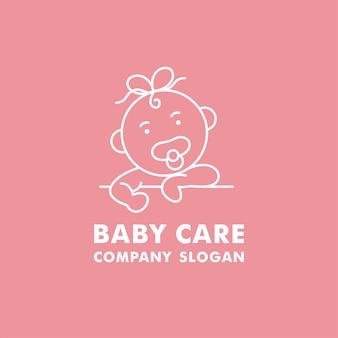 Logotipo, emblema e ícone do vetor para organização de cuidados com o bebê.