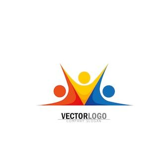 Logotipo empresarial simétrico