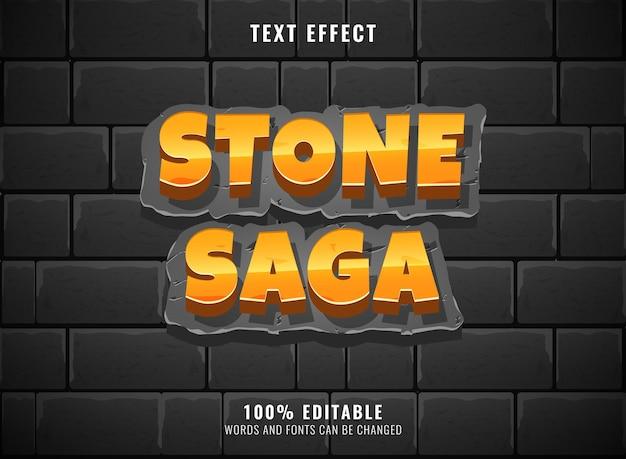 Logotipo engraçado do jogo do mundo da selva com efeito de texto editável em moldura de madeira