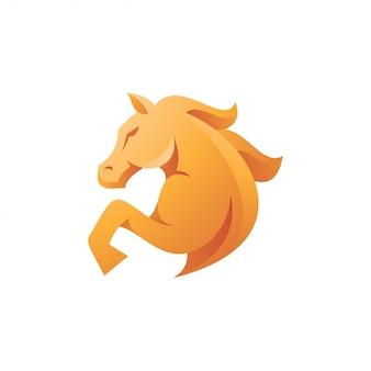 Logotipo eqüino do garanhão do cavalo