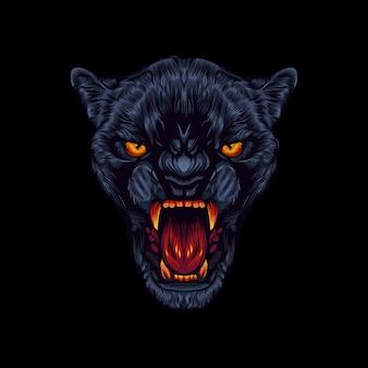 Logotipo escuro da pantera